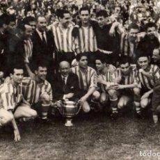 Coleccionismo deportivo: ATHLETIC BILBAO,1958, GANADOR DE LA COPA DEL GENERALISIMO, ESPECTACULAR,230X160MM,FOTO FELIX. Lote 67867417