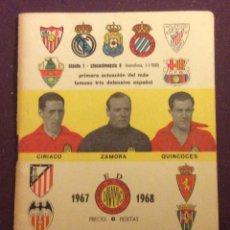 Coleccionismo deportivo: CALENDARIO DE BOLSILLO DINAMICO 1967-68.. Lote 68353837