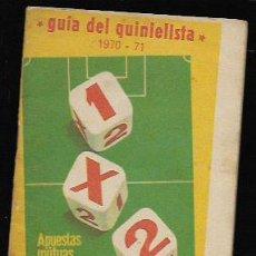 Coleccionismo deportivo: GUIA DEL QUINIELISTA 1970 - 71. Lote 68454117