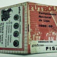 Coleccionismo deportivo: CALENDARIO CAMPEONATO NACIONAL DE LIGA DE FÚTBOL 1988 - 1989 (88 - 89) - SANTANDER. Lote 70047489