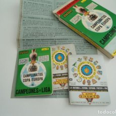 Coleccionismo deportivo: CAMPEONES COPA EUROPA - SUPER DINAMICO - APENDICE 16 CAJA ORIGINAL - + HISTORIA DEL FUTBOL 1981 1982. Lote 142443129