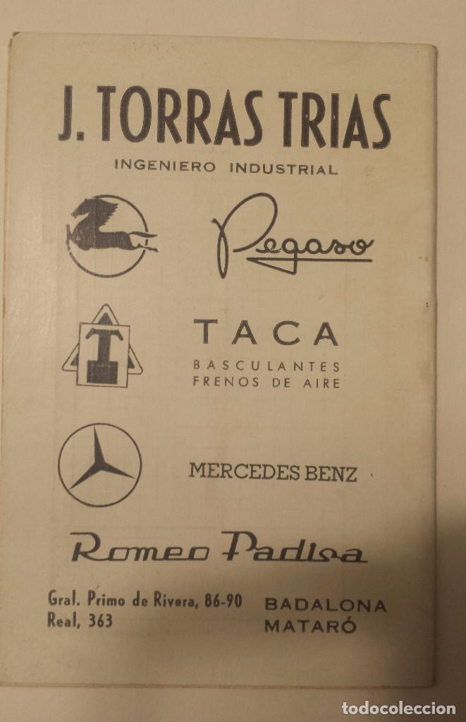 Coleccionismo deportivo: CALENDARIO DE FUTBOL 1ª Y 2ª DIVISION TEMPORADA 1966-67 PENYA BADALONA AZULADA SIN USAR - Foto 2 - 71572539