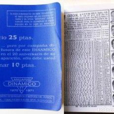 Coleccionismo deportivo: ANUARIO DINÁMICO 1970 1971 MINI REVISTA DE ESTADÍSTICA YE HISTORIA DEL FUTBOL ESPAÑOL TOMAS TOCINO Z. Lote 72079591