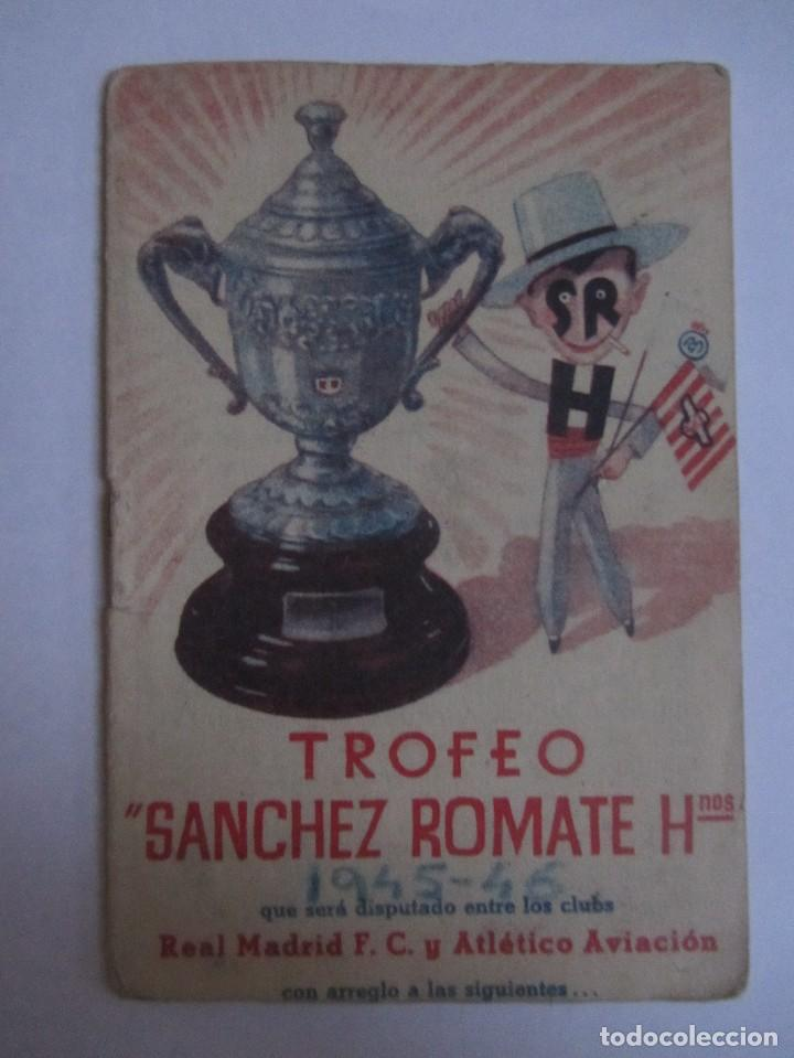 CALENDARIO ESTADISTICO LIGA ESPAÑOLA 1945-1946 RELLENADO (Coleccionismo Deportivo - Documentos de Deportes - Calendarios)