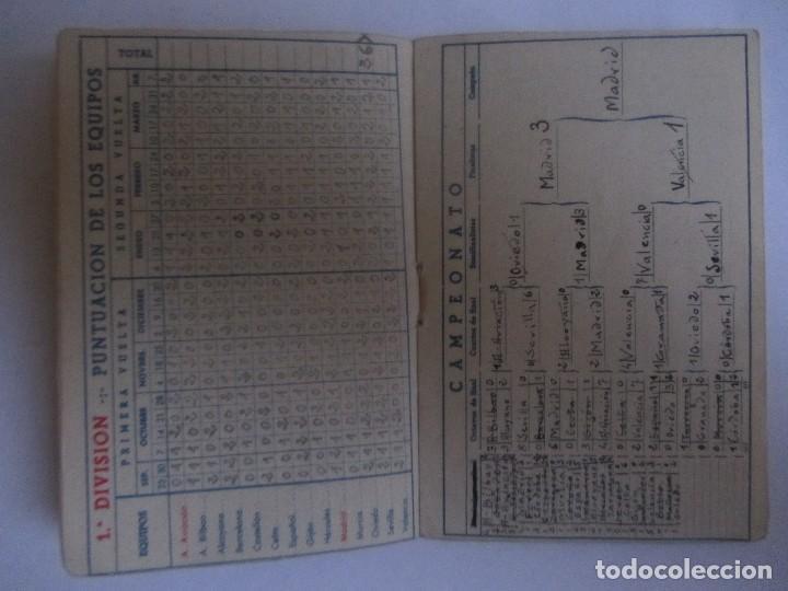 Coleccionismo deportivo: Calendario Estadistico Liga Española 1945-1946 rellenado - Foto 3 - 72447347
