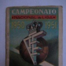 Coleccionismo deportivo: CALENDARIO ESTADISTICO LIGA ESPAÑOLA 1950-1951 RELLENADO. Lote 72447731