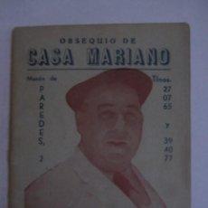 Coleccionismo deportivo: CALENDARIO ESTADISTICO LIGA ESPAÑOLA 1952-1953 RELLENADO. Lote 72448227