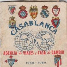 Coleccionismo deportivo: GUÍA CALENDARIO DE FÚTBOL, LIGA 1958-59. FOTOS JUGADORES. . Lote 74681455