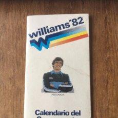 Coleccionismo deportivo: R1128 CALENDARIO ARCONADA ARKONADA MUNDIAL ESPAÑA 1982 WC82 WILLIAMS CAMPEONATO DEL MUNDO. Lote 75023859