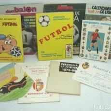 Coleccionismo deportivo: 10 DOCUMENTOS FUTBOL- CALENDARIO-AGENDA ESTADISTICA-CARNET SOCIO -DON BALON- AÑOS 70 80 90. Lote 76658947
