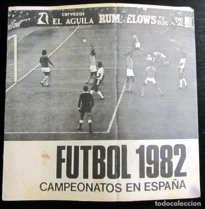 CALENDARIO MUNDIAL FUTBOL ESPAÑA 1982 CERVEZAS EL AGUILA EXTRA RESERVA FIFA WOLRD CUP FOOTBALL 82 (Coleccionismo Deportivo - Documentos de Deportes - Calendarios)