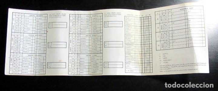 Coleccionismo deportivo: CALENDARIO MUNDIAL FUTBOL ESPAÑA 1982 CERVEZAS EL AGUILA EXTRA RESERVA FIFA WOLRD CUP FOOTBALL 82 - Foto 3 - 76803839