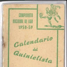 Coleccionismo deportivo: CAMPEONATO NACIONAL DE LIGA 1958-1959. Lote 77151625