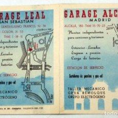 Coleccionismo deportivo: CALENDARIO CAMPEONATO NACIONAL LIGA 1951 - 1952 GARAJE ALCALÁ MADRID Y LEAL SAN SEBASTIÁN. Lote 78610533