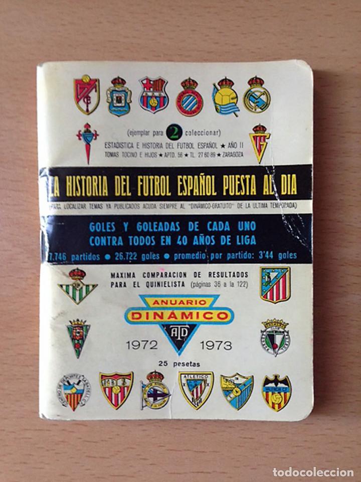 FUTBOL - ANUARIO DINAMICO 1971-1972 (Coleccionismo Deportivo - Documentos de Deportes - Calendarios)