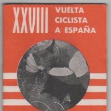 Coleccionismo deportivo: LIBRILLO CALENDARIO DE MANO AÑO 1973 CICLISMO XXVIII VUELTA CICLISTA ESPAÑA GIRO TOUR PUBLICIDAD. Lote 81052840