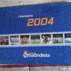 Coleccionismo deportivo: CALENDARIO DE PARED 2004 CARNET MADRIDISTA. Lote 81199640