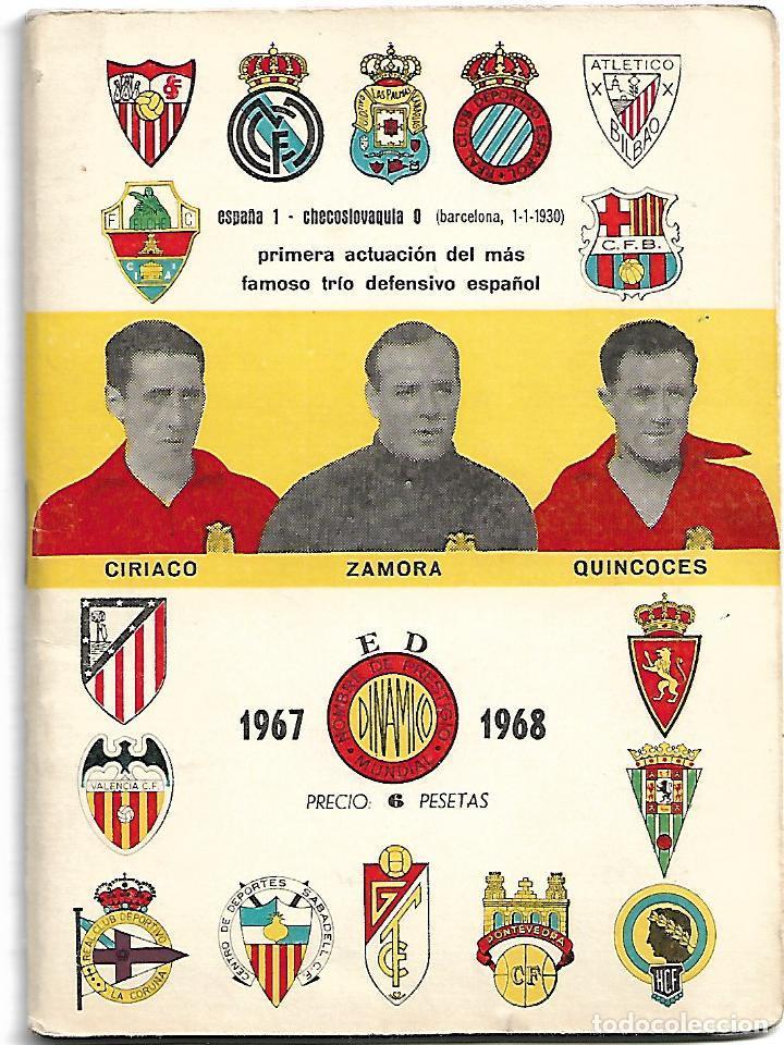 CALENDARIO DINAMICO DE LA LIGA 1967/1968 (Coleccionismo Deportivo - Documentos de Deportes - Calendarios)