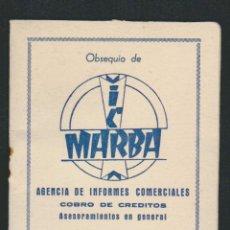 Coleccionismo deportivo: CALENDARIO DE FUTBOL.TEMPORADA 1961.OBSEQUIO DE MARBA.HUELVA.. Lote 83854132