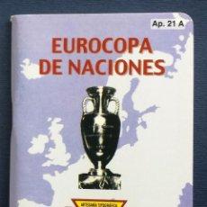 Coleccionismo deportivo: CALENDARIO DINÁMICO 21A 21 A EUROCOPA DE NACIONES. Lote 85199288