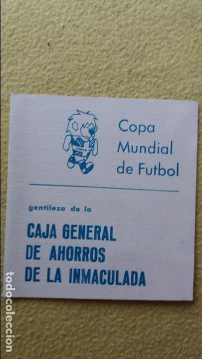 CALENDARIO COPA MUNDIAL DE FÚTBOL 1966 (Coleccionismo Deportivo - Documentos de Deportes - Calendarios)