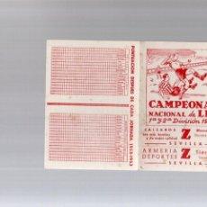 Coleccionismo deportivo: CALENDARIO CAMPEONATO NACIONAL DE LIGA AÑO 1952 1953 52 53 1ª Y 2ª DIVISION . Lote 86199852