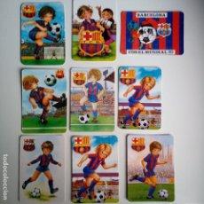 Coleccionismo deportivo: LOTE 9 CALENDARIOS F.C. BARCELONA AÑOS 80 - 90. Lote 86574948