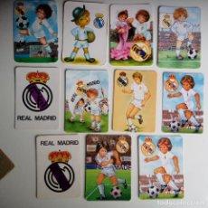 Coleccionismo deportivo: LOTE 11 CALENDARIOS REAL MADRID AÑOS 80. Lote 86575584
