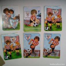 Coleccionismo deportivo: LOTE 6 CALENDARIOS ATHLETIC CLUB BILBAO AÑOS 80. Lote 86576164