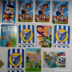 Coleccionismo deportivo: LOTE 11 CALENDARIOS MÁLAGA AÑOS 80 - 90. Lote 86576736