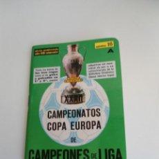 Coleccionismo deportivo: CALENDARIO FUTBOL DINAMICO APENDICE 16A - CAMPEONATOS COPA EUROPA DE CAMPEONES LIGA AÑOS 1963 A 1971. Lote 219558706