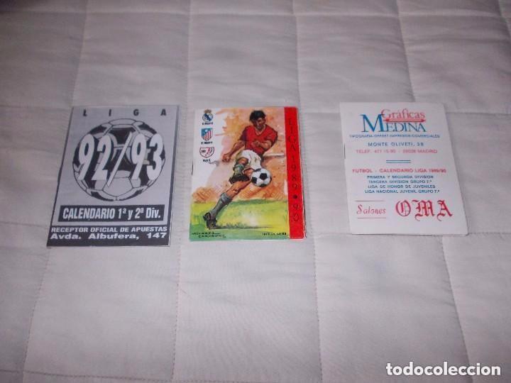CALENDARIOS DE FUTBOL PRIMERA Y SEGUNDA DIVISION LOTE DE TRES NUEVOS (Coleccionismo Deportivo - Documentos de Deportes - Calendarios)