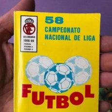 Coleccionismo deportivo: AGENDA ESTADÍSTICA FÚTBOL 58 CAMPEONATO NACIONAL DE LIGA CALENDARIO 1988/89. Lote 87631388