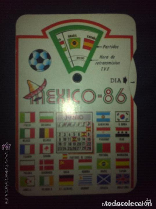 ANTIGUO CALENDARIO MUNDIAL MEXICO 86 (Coleccionismo Deportivo - Documentos de Deportes - Calendarios)