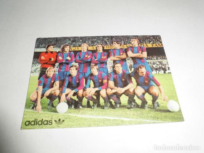 MAGNIFICO CALENDARIO DE BOLSILLO DEL FUTBOL CLUB BARCELONA DE 1977 (Coleccionismo Deportivo - Documentos de Deportes - Calendarios)