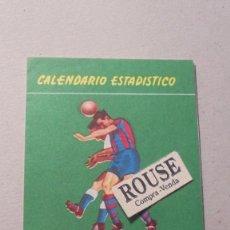 Coleccionismo deportivo: CALENDARIO ESTADISTICO - CAMPEONATO NACIONAL DE LIGA PRIMERA DIVISION 1955-1956 - TRIPTICO 6 PAG. . Lote 93745560