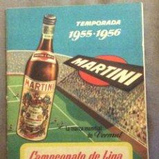 Coleccionismo deportivo: CALENDARIO CAMPEONATO NACIONAL DE LIGA 1955-56. PUBLICIDAD MARTINI. Lote 93823645