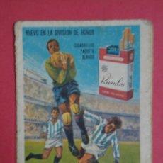 Coleccionismo deportivo: CALENDARIO CAMPEONATO DE LIGA DIVISION DE HONOR TEMPORADA 1967-68. PUBLICIDAD DE CIGARRILLOS RUMBO. Lote 93938105