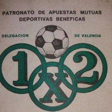 Coleccionismo deportivo: CALENDARIO QUINIELISTA LIGA 1974-1975. Lote 94060310