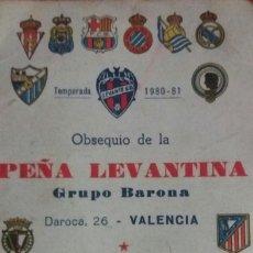 Coleccionismo deportivo: CALENDARIO QUINIELISTA LIGA 1980-1981. Lote 94063085