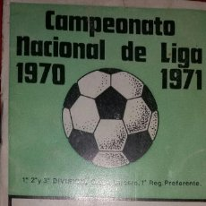 Coleccionismo deportivo: CALENDARIO DEL QUINIELISTA LIGA 1970-1971. Lote 94063295