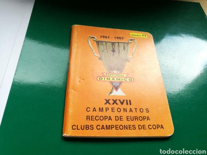 CALENDARIO ESTADÍSTICO DE FÚTBOL DINÁMICO. RECOPAS DE EUROPA Y CLUBES DE CAMPEONES DE COPA. 1961-87 (Coleccionismo Deportivo - Documentos de Deportes - Calendarios)