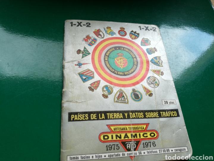 CALENDARIO ESTADÍSTICO DE FÚTBOL DINÁMICO DE LA LIGA ESPAÑOLA 1975-76 (Coleccionismo Deportivo - Documentos de Deportes - Calendarios)