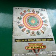 Coleccionismo deportivo: CALENDARIO ESTADÍSTICO DE FÚTBOL DINÁMICO DE LA LIGA ESPAÑOLA 1975-76. Lote 94132622