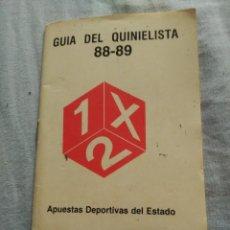 Coleccionismo deportivo: GUIA DEL QUINIELISTA 88-89. Lote 94486978