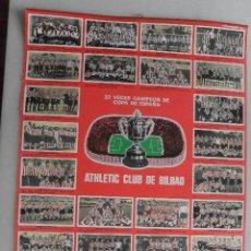 Coleccionismo deportivo: ALMANAQUE CALENDARIO 1977 22 COPAS DE ESPAÑA ATH BILBAO. BENGOECHEA. Lote 98061579