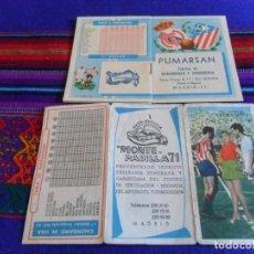 Coleccionismo deportivo: CALENDARIO LIGA 1961 62 Y 1962 63. REAL MADRID Y ATLÉTICO DE MADRID. REGALO 1989 90. RAROS.. Lote 98124515