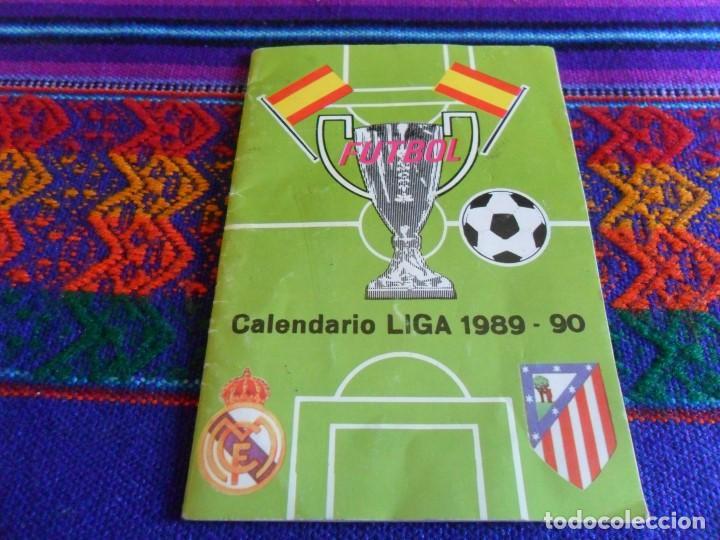Coleccionismo deportivo: CALENDARIO LIGA 1961 62 Y 1962 63. REAL MADRID Y ATLÉTICO DE MADRID. REGALO 1989 90. RAROS. - Foto 3 - 98124515