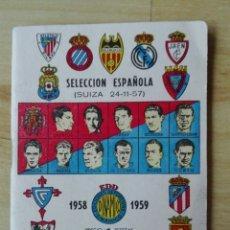 Coleccionismo deportivo: CALENDARIO EDITORIAL DINÁMICO 1958 1959. MUY BIEN. Lote 98687620