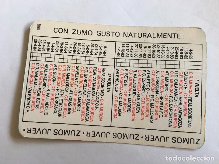Coleccionismo deportivo: CALENDARIO BOLSILLO FUTBOL PUBLICIDAD ZUMOS JUVER - Foto 2 - 99171695